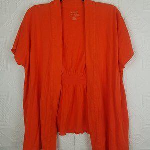 Lane Bryant Orange Cotton Modal Cardigan 14/16